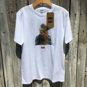 NWT Levi's Star Wars Chewbacca Graphic Tee White M
